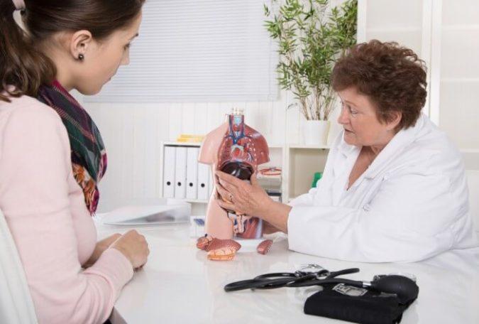 Besprechung einer Leberbiopsie