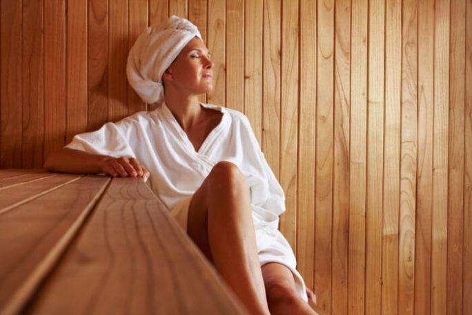 Schwitzbad und Sauna helfen zu entspannen